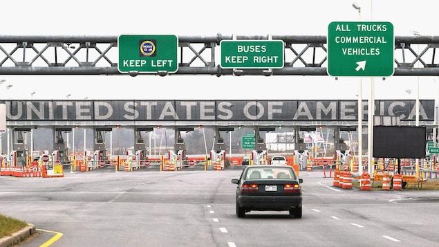 Puesto de control fronterizo entre Canadá y Estados Unidos.