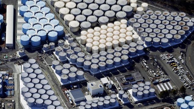 Une vue aérienne de la centrale nucléaire