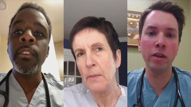 Trois des médecins de la zone 4 qui ont pris part au point de presse du mercredi 27 janvier : le Dr Gaëtan Gibbs (à gauche), la Dr Claude Richard (au centre) et le Dr Vincent Moreau (à droite).