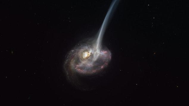 Impression artistique de la galaxie ID2299.