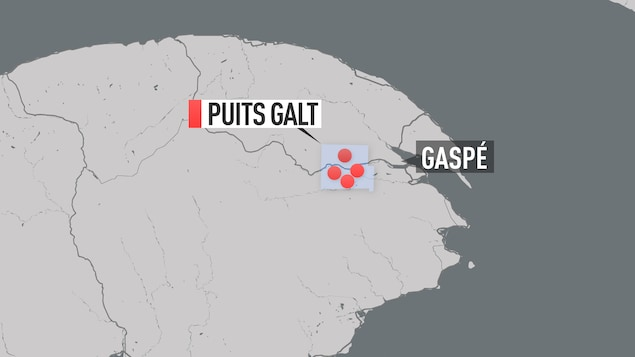 Le site Galt est situé en territoire non organisé dans la MRC Côte-de-Gaspé.