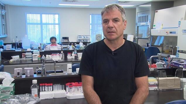 Gary Kobinger, directeur du Centre de recherche en infectiologie  de l'Université Laval