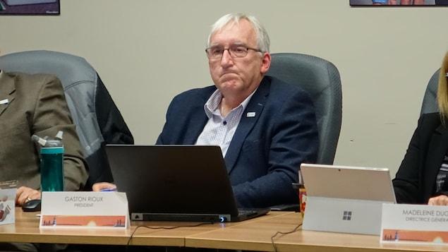 Gaston Rioux, président de la commission scolaire des Phares