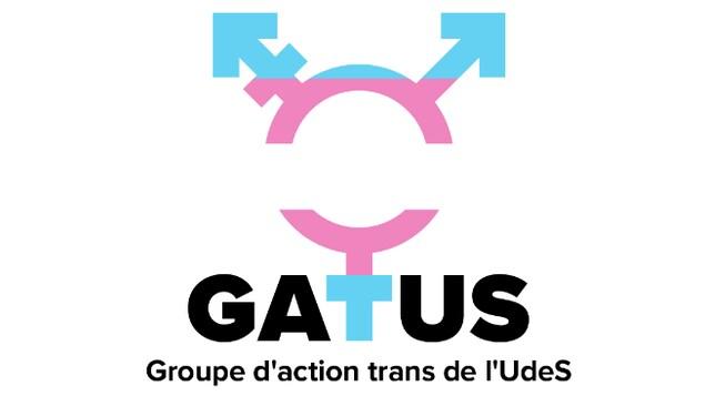 Le Groupe d'action trans de l'UdeS a lancé un guide de transition légale pour ceux et celles qui veulent changer de prénom ou de sexe. On voit ici leur logo et sigle.