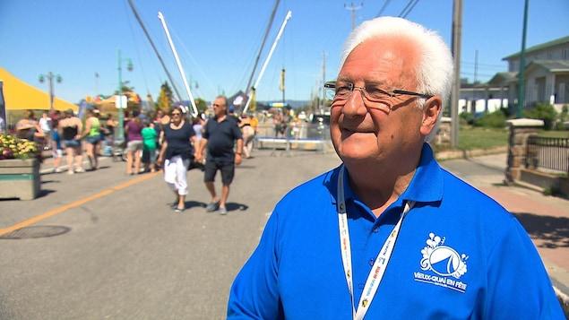 Ghislain Lévesque est le président du 25e festival du Vieux-Quai en fête