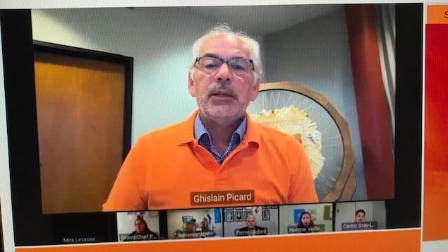 Le chef de l'APNQL, Ghislain Picard, lors du dévoilement de son Plan d'action sur le racisme et la discrimination, le 29 septembre 2020.