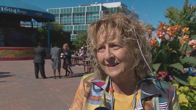 Ghislaine Foulem, présidente du Conseil pour le développement de l'alphabétisme et des compétences des Aldultes du Nouveau-Brunswick CODAC-NB.