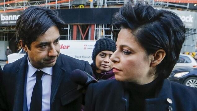 L'avocate Marie Henein et son client Jian Ghomeshi