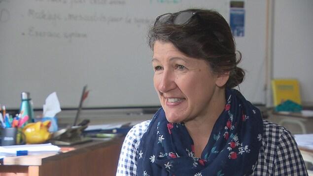 Gilberte Godin, enseignante de française à l'école Mathieu-Martin de Dieppe.
