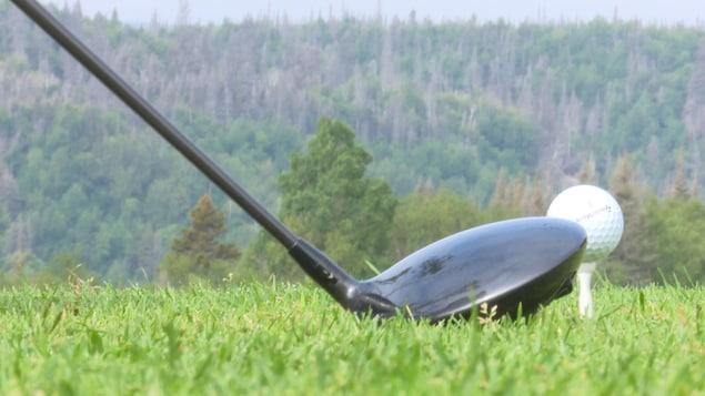 Un bâton et une balle de golf