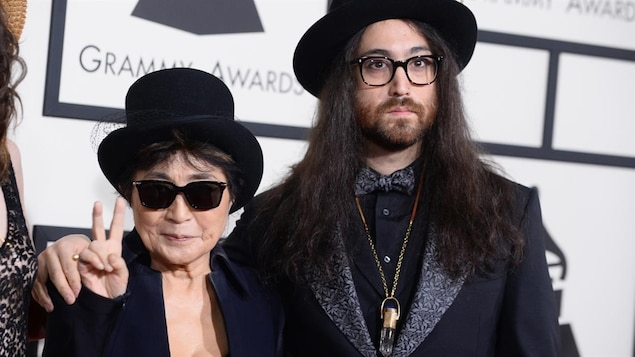 Yoko Ono et son fils Sean Ono Lennon