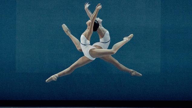 Les danseuses des Grands Ballets Mai Kono et Sarah Kingston