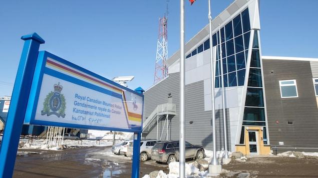 Le bureau de la Gendarmerie royale du Canada à Iqaluit, au Nunavut.