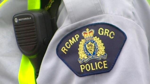 Un écusson de la Gendarmerie royale du Canada.