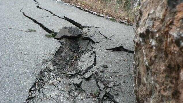 Le trou qu'a causé la roche