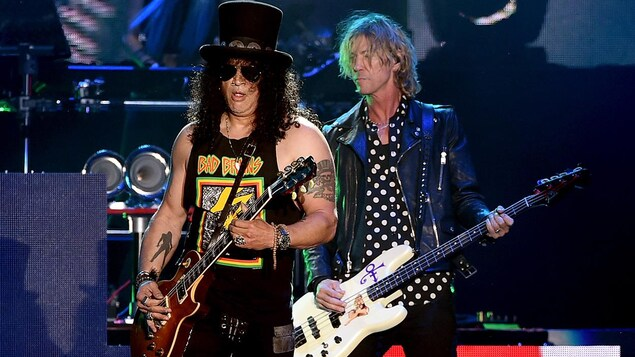 Slash et Duff McKagan de Guns N' Roses
