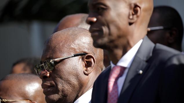 Portrait du premier ministre et du président d'Haïti.