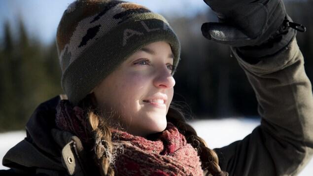 Hannah Baron du groupe environnementaliste Earthroots.