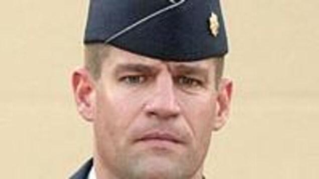 Le major Harry Schmidt en uniforme.