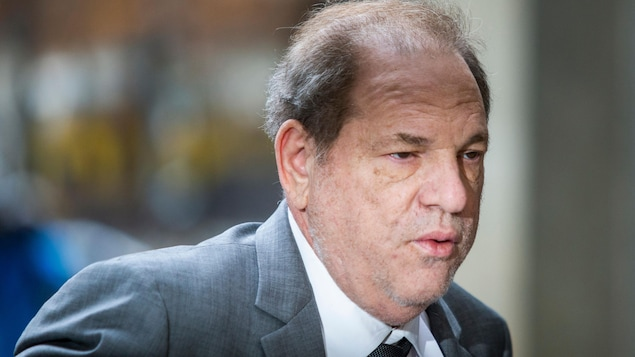 Gros plan d'Harvey Weinstein, vêtu d'un veston et d'une cravate.