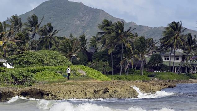 Paysage à Hawaï.
