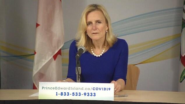 La médecin hygiéniste en chef de l'Île-du-Prince-Édouard, la Dre Heather Morrisson, le 9 avril 2020.