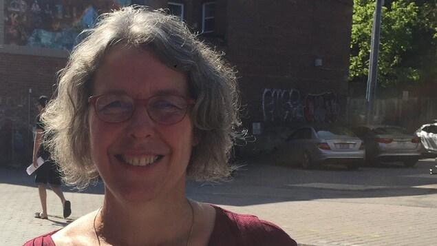 La candidate à la mairie de Sherbrooke pour le parti Sherbrooke Citoyen, Hélène Pigot