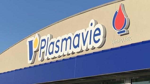 Une enseigne du centre Plasmavie.