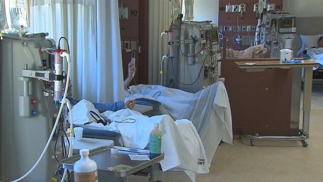Les traitements d'hémodialyse ne sont offerts qu'à Rimouski et Chandler pour l'instant.