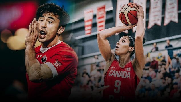 加拿大运动员 Nathan Hirayama 和 Miranda Ayim 将是东京奥运开幕式的加拿大队国旗手。