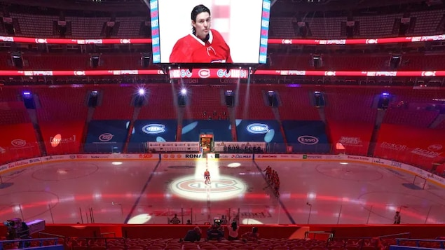 Montreal Canadiens goaltender Carey Price, seen here before the home opener on Jan. 28, was a driving force behind his team's battle for the Stanley Cup in the middle of a pandemic.