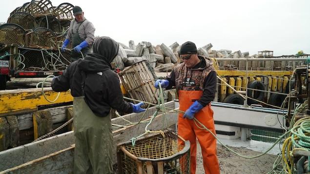 Des pêcheurs de homard