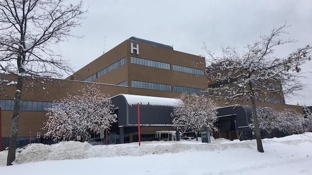 La façade de l'hôpital