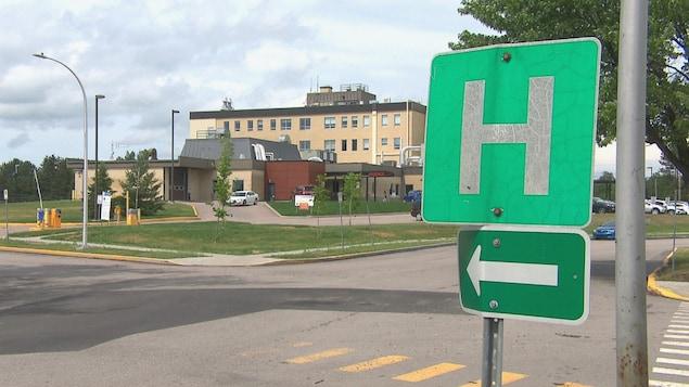 L'hôpital de Dolbeau-Mistassini.