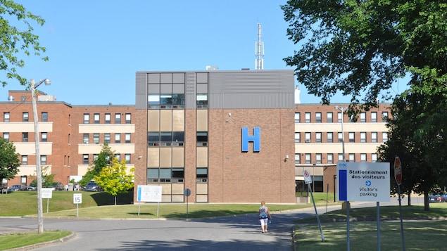 La façade de l'hôpital de Maria.