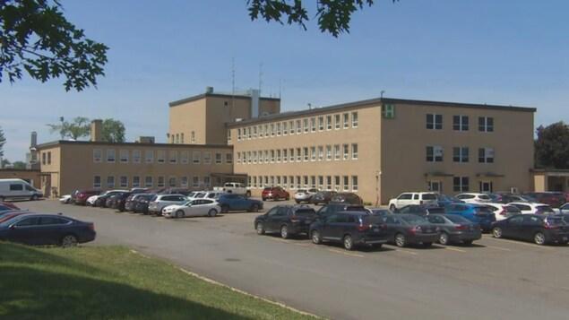 Vue d'ensemble de l'Hôpital public d'Oromocto.