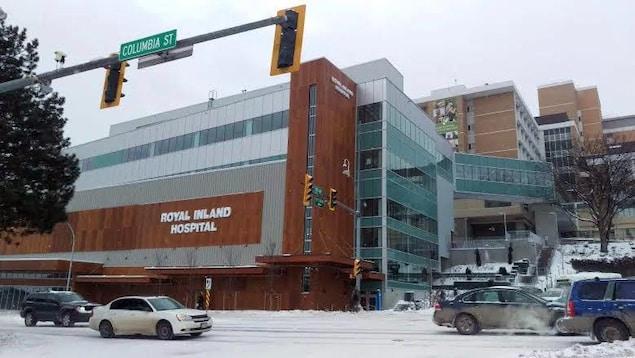 La façade de l'Hôpital Royal Inland à Kamloops