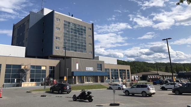 Une clinique de dépistage a été installée à l'hôpital de Sainte-Anne-des-Monts