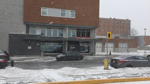 La stationnement de l'hôpital de Trois-Rivières.