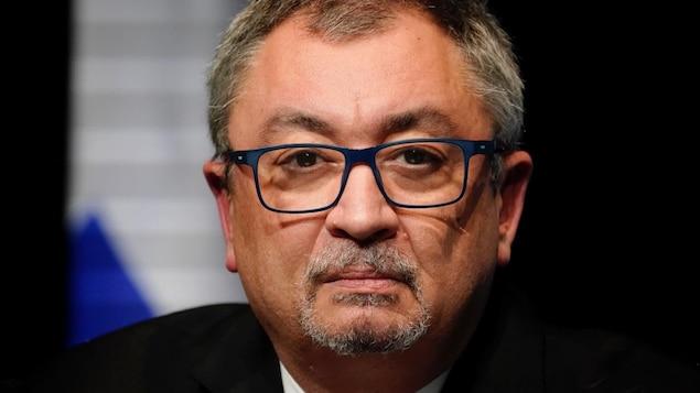 Horacio Arruda en point de presse.