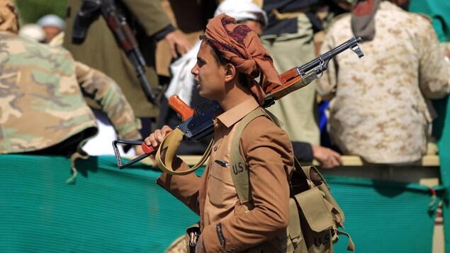 Un soldat au Yémen.