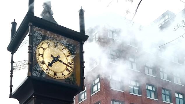 La fameuse horloge SteamWork, du quartier Gastown, à Vancouver.