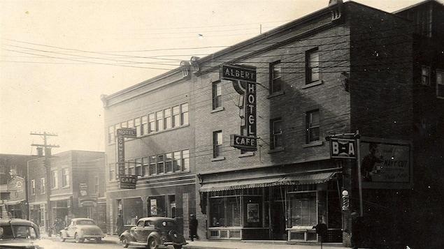 L'hôtel Albert en 1938, avant l'incendie