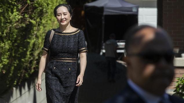 Meng Wanzhou quitte son domicile de Vancouver le 27 mai 2020.