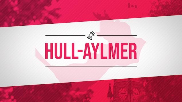 Une infographie rose avec le titre Hull-Aylmer au centre de l'image.