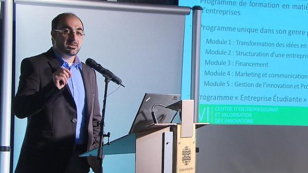 Hussein Ibrahim est le directeur du Centre d'entrepreneuriat et de valorisation des innovations du cégep de Sept-Îles