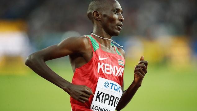 Le Kényan Asbel Kiprop lors des Championnats du monde d'athlétisme, à Londres, en août 2017