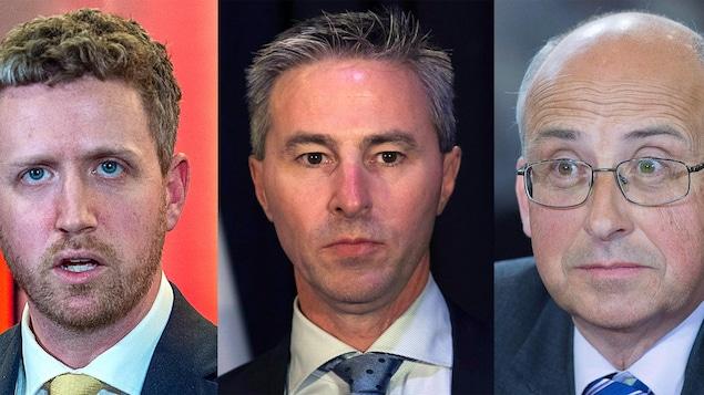 Les trois chefs des principaux partis de la Nouvelle-Écosse.