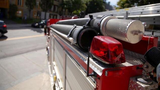 Un camion du Service de protection contre l'incendie de la Ville de Québec.