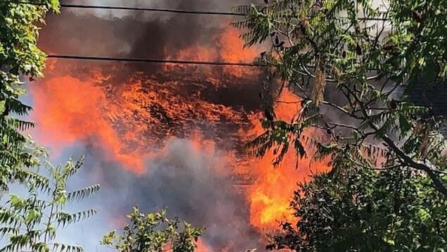 Incendie majeur à Témiscaming, 25 août 2019